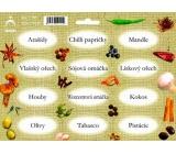 Arch Samolepky na kořenky Juta barvotisk Arašídy - přísady pro přípravu minutek (sojová omáčka, oříšky, papričky) 0519