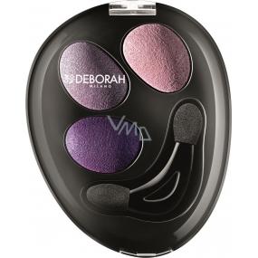 Deborah Milano Trio Hi-Tech Eyeshadow oční stíny 04 Purple Deluxe 4,2 g