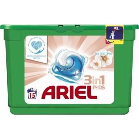 Ariel 3v1 Sensitive gelové kapsle na praní prádla 15 kusů 438 g