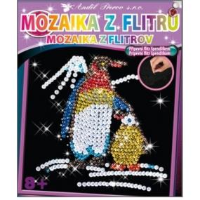 Mozaika z flitrů 8+ Tučňáci 35 x 26 cm