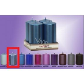 Lima Svíčka hladká metal modrá válec 50 x 100 mm 4 kusy
