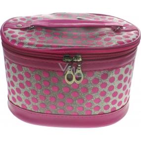Kosmetický kufřík puntík růžový 19 x 14,5 x 12 cm 70590