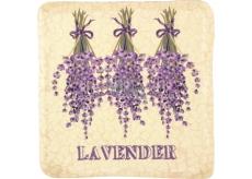 Bohemia Gifts Lavender zavěšená malovaná dekorativní kachlík 10 x 10 cm