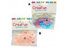 CreaFun Textilní dekorace Květina/Motýl 24 mm 30 kusů