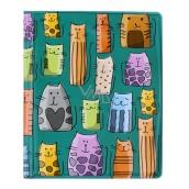 Albi Pouzdro na karty i doklady Barevné kočky 10 cm × 13,5 cm