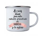 Bohemia Gifts & Cosmetics Plecháček s potiskem pro babičku 8 cm