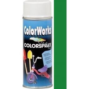 Color Works Colorspray 918511C středně zelený alkydový lak 400 ml