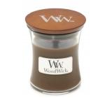WoodWick Amber & Incense - Ambra a kadidlo vonná svíčka s dřevěným knotem a víčkem sklo malá 85 g