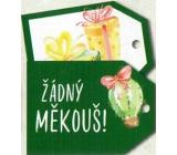 Nekupto Vánoční kartičky na dárky žádný měkouš 5,5 x 7,5 cm 6 kusů