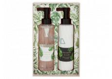 Heathcote & Ivory Tender Palm mycí gel 200 ml + tělové mléko 200 ml, kosmetická sada