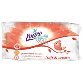 Linteo Baby Soft & Cream vlhčené ubrousky pro děti 72 kusů