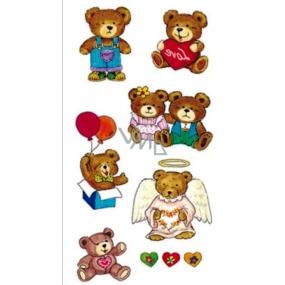 Tetování barevné medvídci 16,5 x 10,5 cm 1 kus