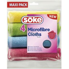 Söke Microfibre Cloths víceúčelová utěrka z mikrovlákna 30 x 30 cm 4 kusy
