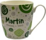 Nekupto Twister hrnek se jménem Martin zelený 0,4 litru 046 1 kus