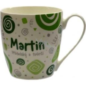 Nekupto Twister hrnek se jménem Martin zelený 0,4 litru