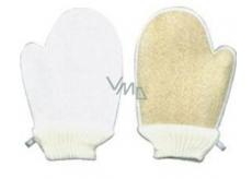Lufa Cylindrica Masážní žínka rukavice + froté žínka 16 x 24 cm vhodné i pro alergiky 1 kus
