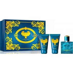 Versace Eros pour Homme toaletní voda 50 ml + sprchový gel 50 ml + balzám po holení 50 ml, dárková sada
