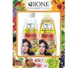 Bione Cosmetics Bio Keratin & Arganový olej regenerační šampon 260 ml + regenerační kondicionér 260 ml, kosmetická sada