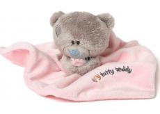 Me to You Teddy Tiny Tatty Teddy růžová dečka s medvídkem 22 x 18 cm