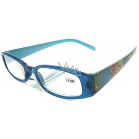 Berkeley Čtecí dioptrické brýle +1,5 modré s kytkama 1 kus ER4130