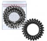 Invisibobble Power True Black Gumička do vlasů černá spirálová 3 kusy