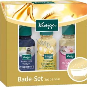 Kneipp Olej do koupele Tajemství krásy 20 ml + Mandlové květy 20 ml + Klidná mysl 20 ml, kosmetická sada