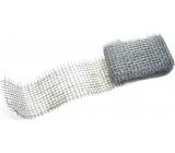 Ditipo Stuha jutová metalická Stříbrná 2 m x 5 cm