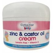 Cotton Tree Baby Zinc & Castor Oil Cream Zinková krémová mast pro děti 200 g
