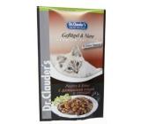 Dr. Clauders Ledvinky a drůbež v omáčce kompletní krmivo s kousky masa pro kočky kapsička 100 g