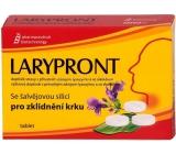 Favea Larypront se šalvějovou silicí rozpustné v ústech ke zklidnění krku 24 tablet