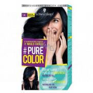 Schwarzkopf Pure Color Washout barva na vlasy 1.40 Borůvková černá 60 ml