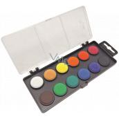 Koh-i-Noor Školní vodové barvy, černý podklad 22,5 mm 12 barev