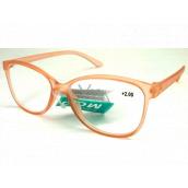 Berkeley Čtecí dioptrické brýle +2,0 plast starorůžové průhledné 1 kus MC2191