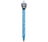 Colorino gumovatelné pero Bulldogs modré, modrá náplň 0,5 mm