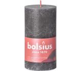 Bolsius Rustic svíčka tmavě šedá válec 68 x 130 mm