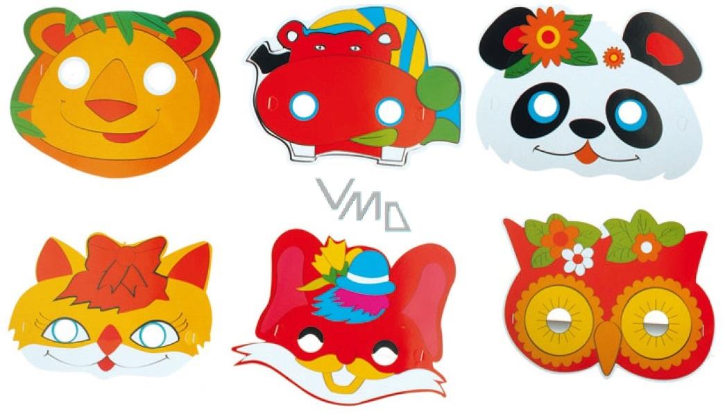 Škrabošky papírové na gumě zvířátka, mix vhodné pro děti 6 ks