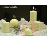 Lima Wellness Vanilka aroma svíčka koule 60 mm 1 kus