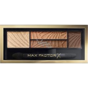 Max Factor Smokey Eye Drama Kit 2v1 oční stíny a pudr na obočí 03 Sumptuos Gold 1,8 g
