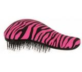 Dtangler Detangling Brush Kartáč pro snadné rozčesávání vlasů 18,5 cm růžovo-černý