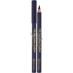 Dermacol 12h True Colour Eyeliner dřevěná tužka na oči 07 Grey 2 g