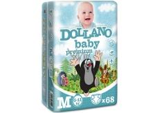 Dollano Baby Premium M 6-11 kg plenkové kalhotky 68 kusů