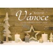 Nekupto Pohlednice vánoční Stromek, hvězda, svíčky 15 x 11 cm
