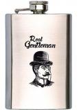 Bohemia Gifts Gentleman nerezová placatka na alkohol 200 ml
