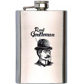 Bohemia Gifts & Cosmetics Gentleman nerezová placatka na alkohol 200 ml
