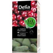 Delia Fruit Fantasy Duopack Avokádo výživný noční krém pro suchou a normální pleť 50 ml + Višeň výživný noční krém pro mastnou a smíšenou pleť 50 ml, kosmetická sada