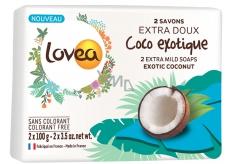 Lovea Kokos Extra jemné mýdlo 2 x 100 g