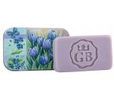 Bohemia Gifts Modré květy - Levandule ručně vyráběné toaletní mýdlo s glycerinem v plechové krabičce 80 g