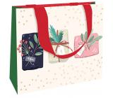 Nekupto Dárková papírová taška luxusní 23 x 18 cm Vánoční dárky WLFM 1991