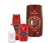 Old Spice Captain Wooden Barrel deodorant stick 50 ml + 2v1 sprchový gel na tělo a vlasy 250 ml + voda po holení 100 ml + barel, kosmetická sada pro muže
