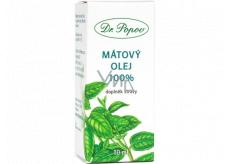Dr. Popov Mátový olej 100% přírodní olej pro vnější i vnitřní užití doplněk stravy 10 ml